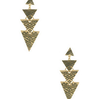 Etched Arrowhead Earrings | FOREVER 21 - 1000047768