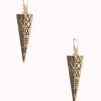 Etched Tribal Pattern Earrings