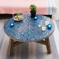 Mosaic Tiled Coffee Table - Indigo