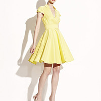 BetseyJohnson.com - CLASSIC SHORT SLEEVE SHIRTDRESS YELLOW