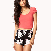 Crisscross Back Crop Top