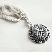 Hypnotic Black and White Necklace