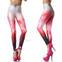 Pink Charming Galaxy Star Color Leggings Pant