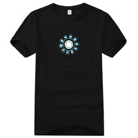 Tony Stark Luminous Iron Man 3 Reactor T-shirt
