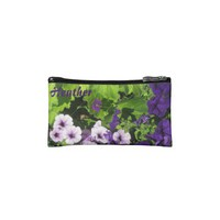 Purple Petunias Clutch Wristlet bags from Zazzle.com
