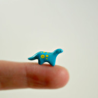 Micro Dinosaur - Hand Sculpted Miniature Polymer Clay Animal