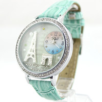 Mint Polymer Clay Tower Watch