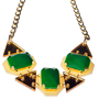 Emerald Green Drops Statement Necklace,Plexiglass Jewelry,Geometric Necklace,Lasercut Acrylic