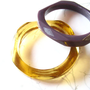 Amber faceted resin bangle bracelet jewelry , gold stacking resin bracelet  bangle jewelery , stackable angle diamond gem bangle bracelet