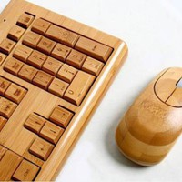 100% Bamboo Handcrafted Keyboard