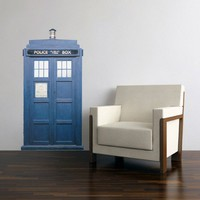 TARDIS Blue Police Box Wall Decal 28 inches wide x 54 inches tall