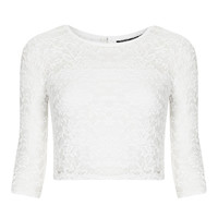 Petite Half Sleeve Lace Crop - New In This Week - New In - Topshop