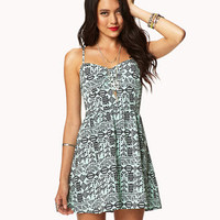 Tribal-Inspired Sweetheart Dress