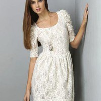 Tea and Crumpets Lace White Dress