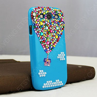 UP hot air balloon iphone case Original Balloon Crystal Bling Bling Phone Case bling i9300 case