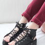 Chunk stud lace up sandals  from 2NDAPRIL