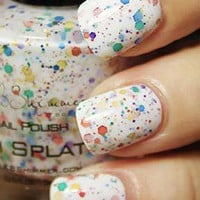 Rainbow Splat Nail Polish