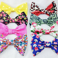 Set of Spring Hair Bows- Any Four Bows of Your Choice