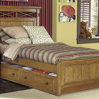 Buchanan Oak Twin Size Panel Bed