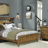 Buchanan Oak Queen Size Bed