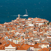 Fine Art Print 12x18 20x30 Piran Slovenia Travel by MosaferPhoto