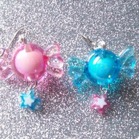 Star Candy - Sweet Pastel Charm Earrings from On Secret Wings