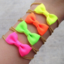 Neon Mini Bow Bracelet
