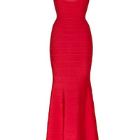 Hervé Léger - Bandage Gown in Lipstick Red