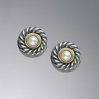 David Yurman | David Yurman Earrings | Pearl, Hoop & Infinity Earrings for Women | 4mm Pearl Earrings