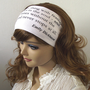 Emily Dickinson Quote Headband White Headband Jersey Headwrap Workout Bandana Head Scarf Yoga Headband Hairband Women Hair Accessorie