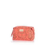 Pink laser cut make up bag - make up bags / luggage - bags / purses - women