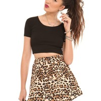 Leopard Skater Skirt - Clothes | GYPSY WARRIOR