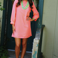 Color Chaos Shift Dress: Neon Peach | Hope&#x27;s