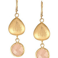 Max & Chloe - Andara Rose Quartz Earrings - Max and Chloe