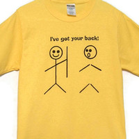 Stick People Screenprinted Tee Yellow with Black Ink by TeezLoueez