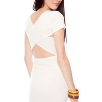 Go Back Across Dress in Ivory :: tobi