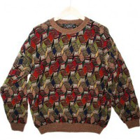 Hotel Carpet Tacky Ugly Cosby Sweater Men's Size XL $22 - The Ugly Sweater Shop