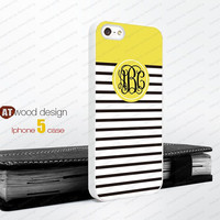 yellow colosrs Monogram geometric Iphone 5 case unique case Hard case Rubber case iphone 4 case