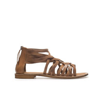 STRAPPY FLAT SANDALS - Shoes - TRF - ZARA United States