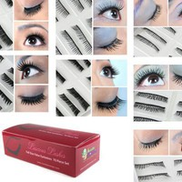 Used and New: Bundle Monster 70 Pairs Fake / False Eyelashes - 7 Different Styles - 10 Pairs Each Variety Pack Set
