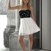 Black and White Dresses - Elise Ryan Prom Dresses from GlitzyAngel