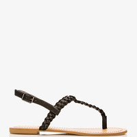 Glittering Braided Thong Sandals | FOREVER 21 - 2049099812