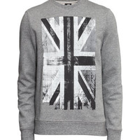Sweatshirt with Printed Motif - from H&M