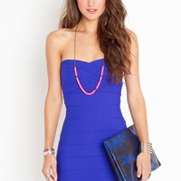 Sweetly Bound Dress - Electric Blue in  Clothes at Nasty Gal