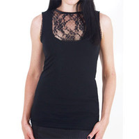 Rosalie Lace Front Top - Tubes, Tanks &amp; Halters - Women&#x27;s - Grease, Gas and Glory