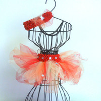 Red, orange, and yellow sparkle tutu set