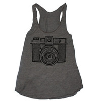 Retro Camera TriBlend Tank