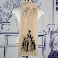 Anne Boleyn Screen printed Cotton Scarf by tartx on Etsy