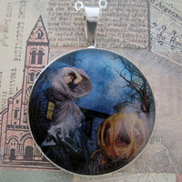 Cinderella Waterhouse collage sterling silver pendant by tartx