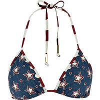 Blue stars and stripes print bikini top - bikinis - swimwear / beachwear - women
